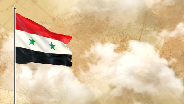 syrian flag - graphic war footage stock videos & royalty-free footage