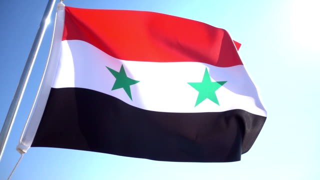 syrian flag - syria stock videos & royalty-free footage