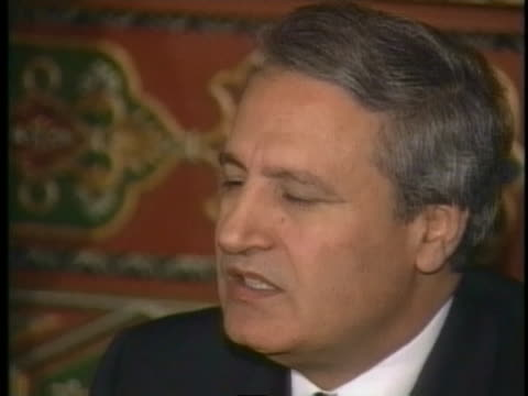 syrian foreign minister farouk alshaara says that syria is still at war with israel and reminds that israel has a lot of weapons of mass destruction - weapons of mass destruction stock videos & royalty-free footage