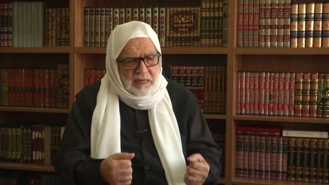 syrian islamic council president osama alrifai speaks to press in istanbul turkey on november 05 2016 - november stock videos & royalty-free footage