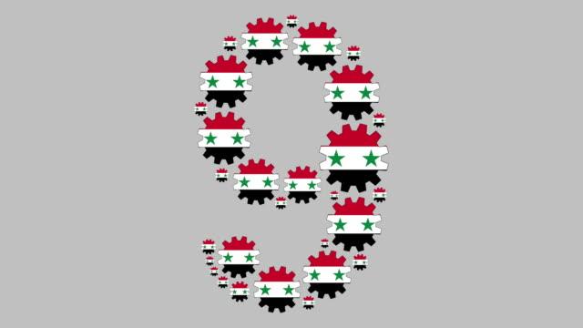 syrische nummer neun - zahl 9 stock-videos und b-roll-filmmaterial