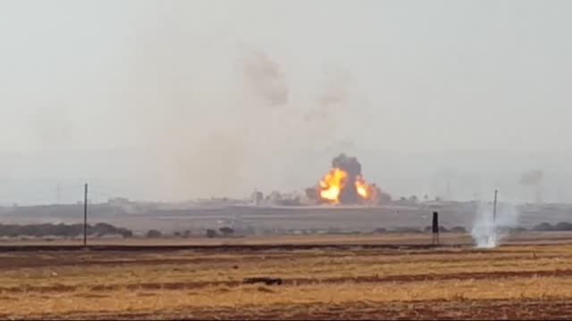syrian opponents linked to alfatah forces attack syrian regime forces in fua village of idlib and scores of regime soldiers and hezbollah militants... - hezbollah stock videos & royalty-free footage