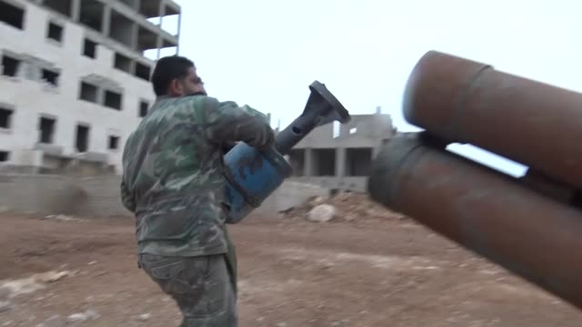 syrian opposition forces launch operation against kurdish rebel group people's democratic union after pyd forces attacked castello road linking... - kurdischer abstammung stock-videos und b-roll-filmmaterial