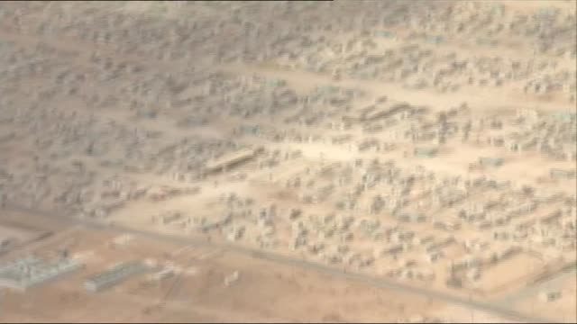 David Cameron visits two camps JORDAN Zaatari refugee camp Zaatari refugee camp Reporter to camera