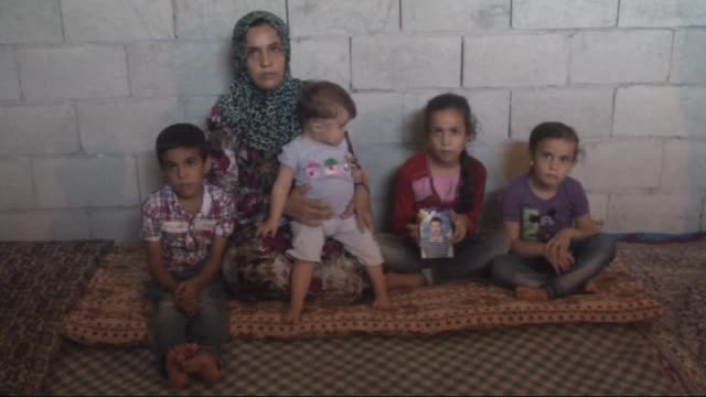 syrian refugee families are seen inside the houses in hatay province of southern turkey on september 16 2015 syrian refugees who fled their country... - hatay stock videos & royalty-free footage