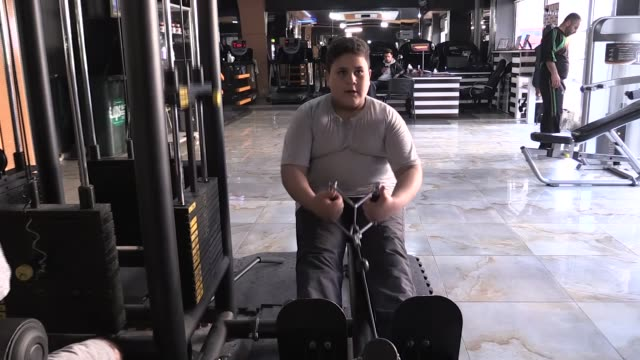 syrian refugee mohammed khalid who works as a shoe polisher in southeastern turkey was given a lifetime membership at a local gym after a photo of... - polishing stock videos & royalty-free footage