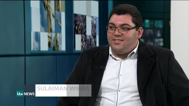 Syrian refugee wins place at Oxford University ENGLAND London GIR INT Sulaiman Wihba LIVE STUDIO Interview SOT