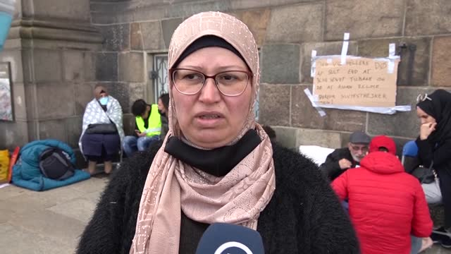 syrian refugees in denmark staged a hunger strike on friday after the country deemed damascus and surrounding areas safe for the return of refugees.... - parliament building stock videos & royalty-free footage