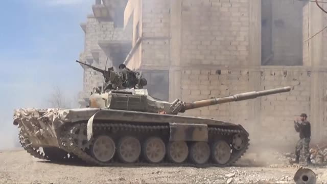 Syrian regime and allied forces battle to suppress the last pockets of resistance in and around Damascus