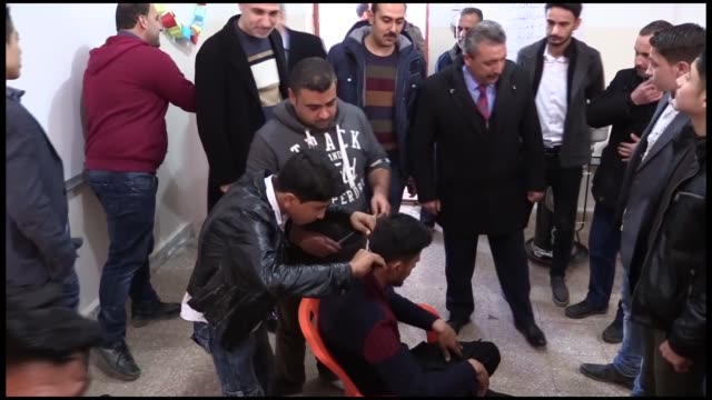 Syrians have been receiving vocational training in a public education center established by Turkey in northern Syria's oppositionheld Azaz region The...