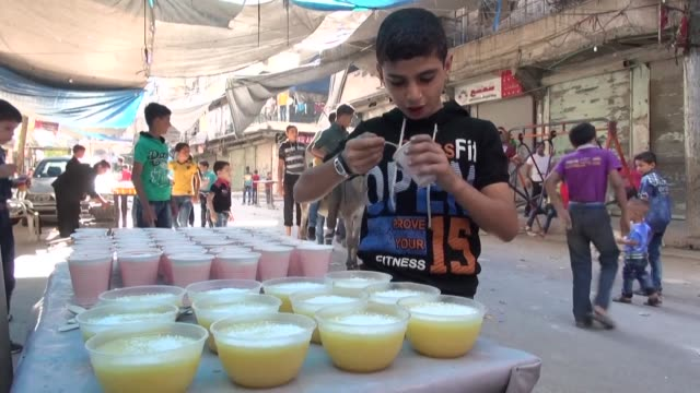syrians in wartorn aleppo started celebrating eid aladha on monday which marks the end of the annual pilgrimage to mecca and commemorates the prophet... - prophet stock videos and b-roll footage