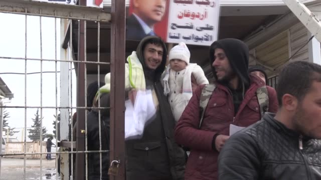 syrians living in kilis return to their hometowns liberated from terrorists in turkey's anti-terror operations on december 31, 2018. turkish deputy... - branch stock videos & royalty-free footage