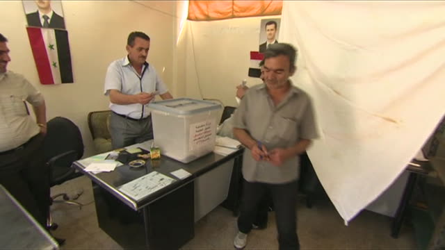 syrians vote for presidential election - june stock videos & royalty-free footage