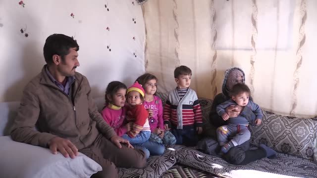 syrians who fled their homeland due to the civil war in their country and the cruelty of the terrorist group ypg/pkk say turkey takes good care of... - kurdistan workers party stock videos & royalty-free footage