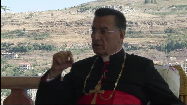 syria's christians do not support the regime of president bashar al-assad, but they do want stability in their war-torn country, lebanon's maronite... - war stock-videos und b-roll-filmmaterial