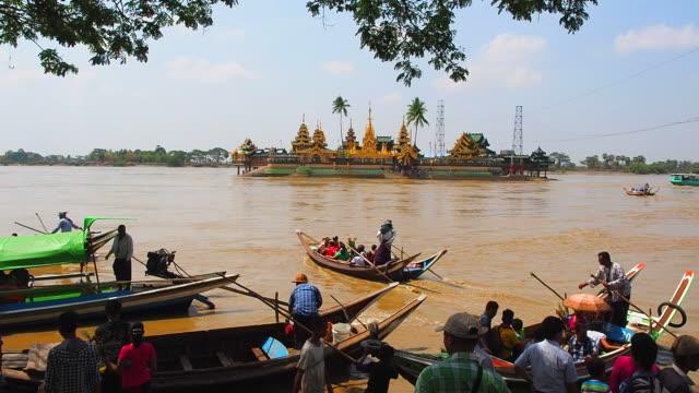 Syriem Yele Pagoda , Island Buddha place in Myanmar.