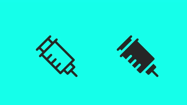 syringe icons - vector animate - syringe stock videos & royalty-free footage