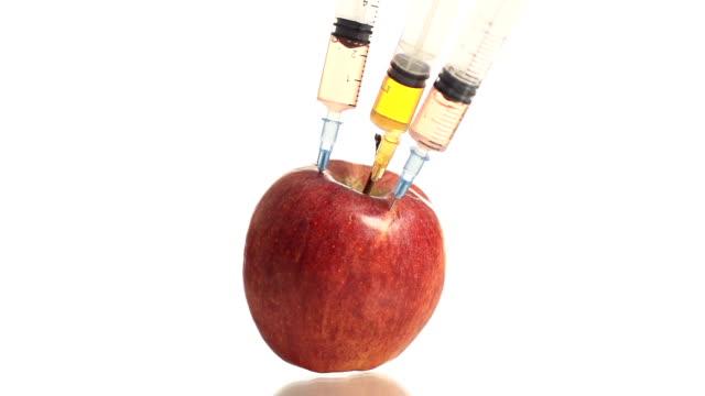 HD-ZEITLUPE: GM Spritzen Stabbing einem Apple