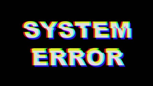 System-Fehler-Glitch-Text-Effekt