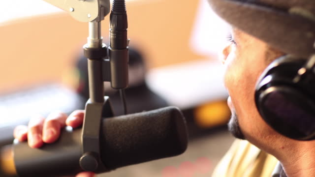 ms system of radio studio / santa fe, new mexico, united states - hörfunksender stock-videos und b-roll-filmmaterial