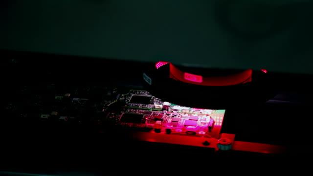 aoi system ursprünglichen scan-verfahrens - optisches gerät stock-videos und b-roll-filmmaterial