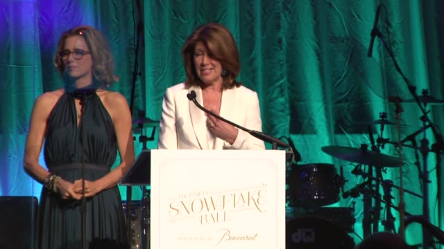 INTERVIEW Téa Leoni and Sherrie Westin present the Audrey Hepburn Award to Hilary Gumbel who jokes that it feels like she's having her Bat Mitzvah on...