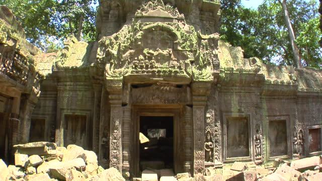 ms ta prohm temple, cambodia - circa 13th century stock videos & royalty-free footage