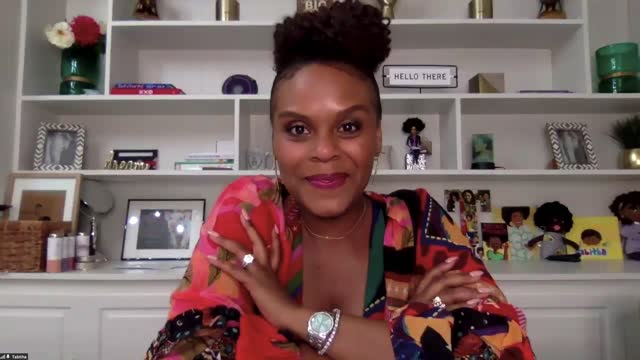 tabitha brown at the 52nd naacp image awards virtual winners press conference on march 27, 2021. - interview raw footage stock videos & royalty-free footage