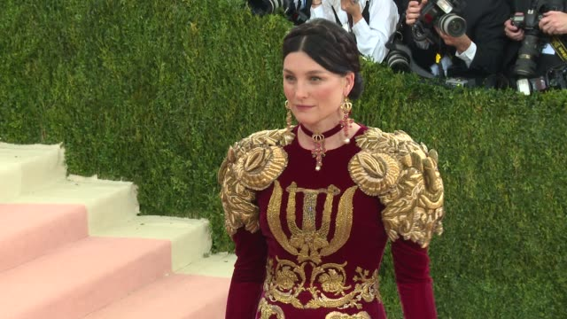 fashion in an age of technology costume institute benefit gala arrivals at metropolitan museum of art at the metropolitan museum on may 02 2016 in... - manus x machina: fashion in an age of technology stock videos and b-roll footage