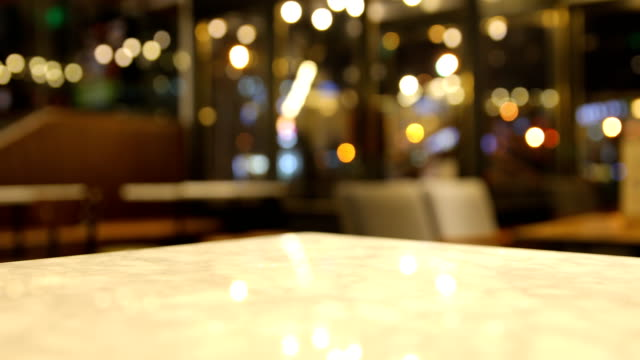 table and blured cafe - bar background stock videos & royalty-free footage
