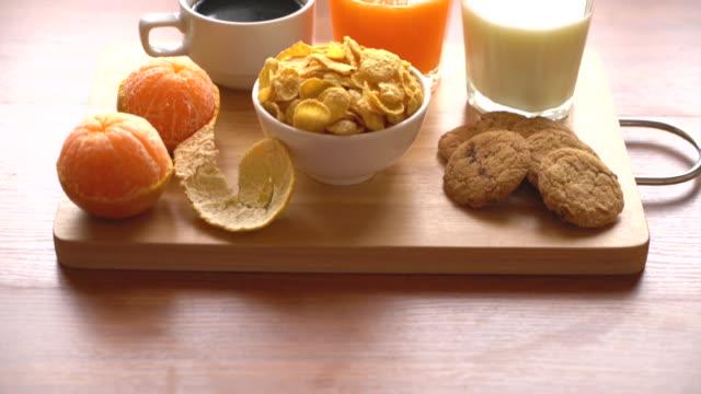 Table Breakfast - Continental Breakfast, fruit, cereals and orange juice