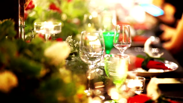table decorating for an event party. - medium group of objects stock videos & royalty-free footage