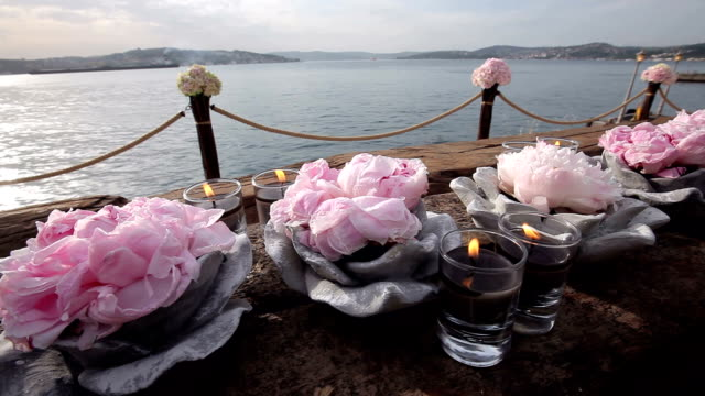 table decoration stock video - banquet stock videos & royalty-free footage