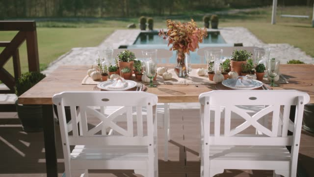 vidéos et rushes de décoration de table - formal garden