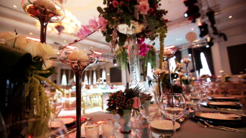 table decoration - decoration stock videos & royalty-free footage