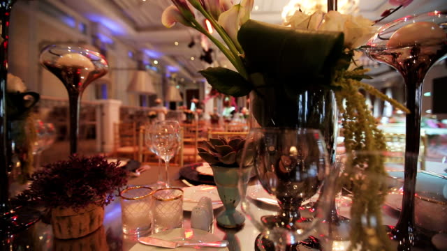 table decoration - grace stock videos and b-roll footage