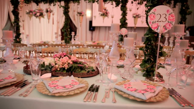 table decoration - formal stock videos and b-roll footage