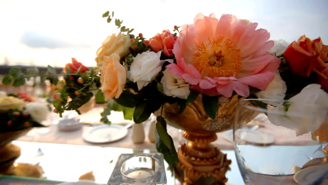 table decoration - wedding stock videos and b-roll footage