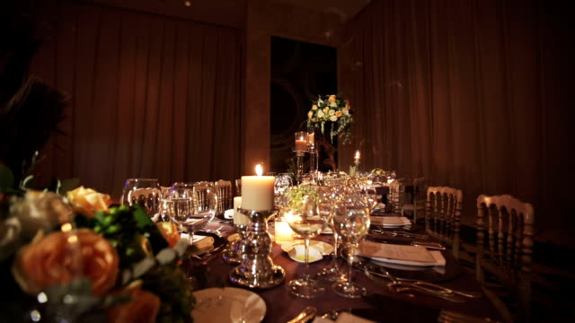 stockvideo's en b-roll-footage met table decoration - elegantie