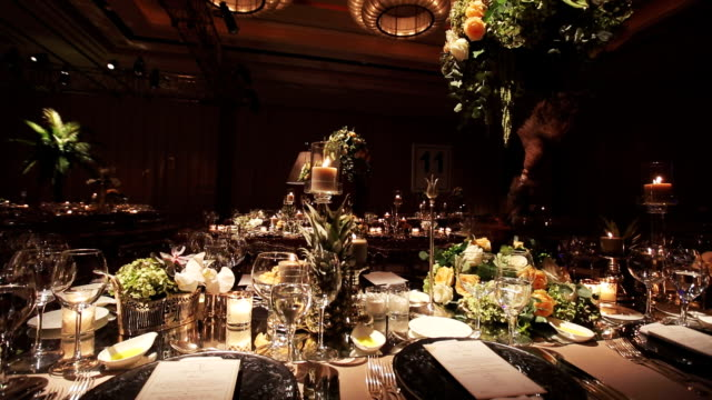 table decoration - evening meal stock videos & royalty-free footage