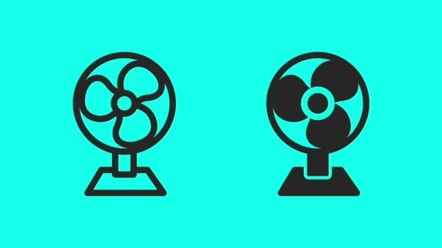 Tafel ventilator - Vector animatie