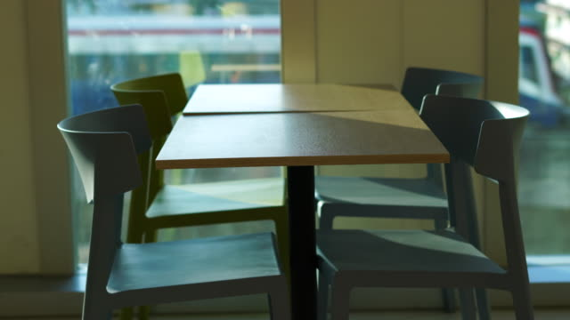 table in building - cafeteria stock videos & royalty-free footage