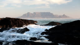 Table Mountain across the sea