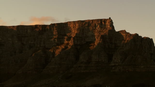 MS Table Mountain at sunset, Cape Town, Western Cape Province, South Africa