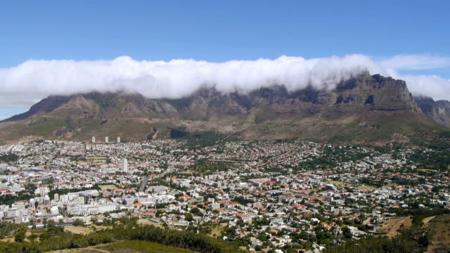 table mountain, cape town, time lapse