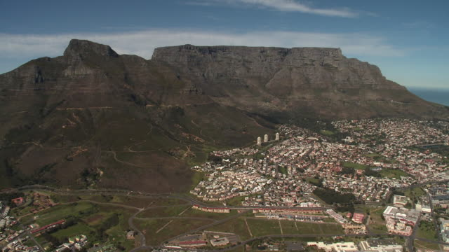 AERIAL Table Mountain, Cape Town, Western Cape Province, South Africa