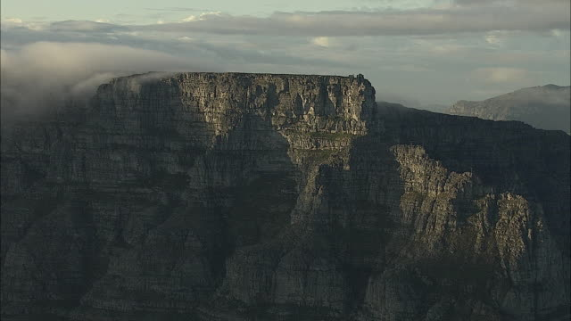 AERIAL WS Table Mountain, Cape Town, Western Cape, South Africa
