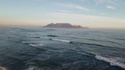 Table Mountain from Blouberg Strand at dusk