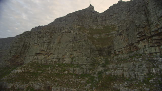 MS POV Table Mountain seen from cable car / Table Mountain National Park/ Cape Town/ South Africa
