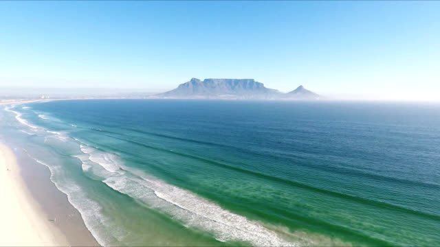 Table Mountain, Table bay, Cape Town, South Africa